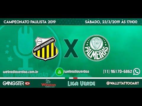 AO VIVO - TRANSMISSÃO Campeonato Paulista 2019 - Novorizontino x Palmeiras