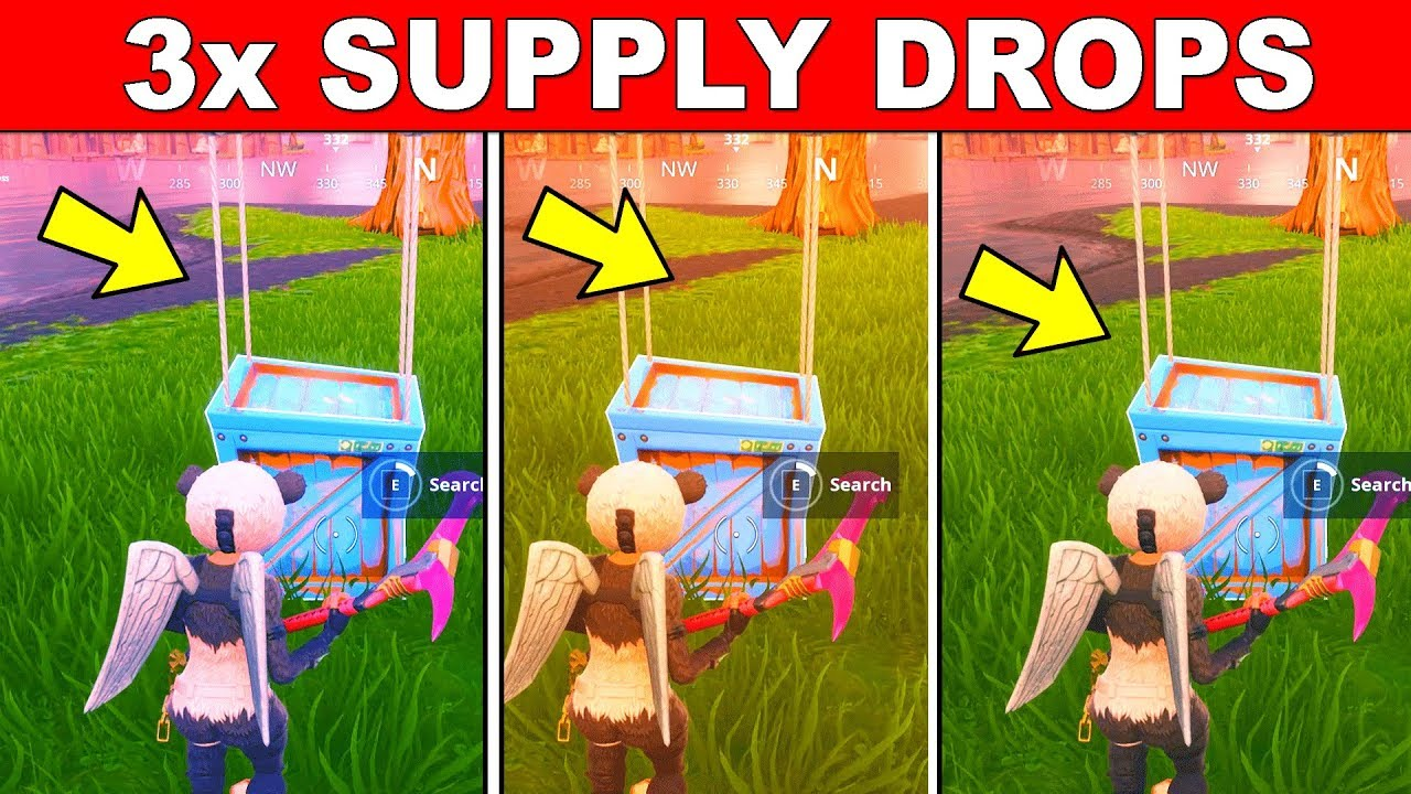Supply Drops Fortnite Sign Search Supply Drops Fortnite Week 7 Challenges Season 5 Youtube