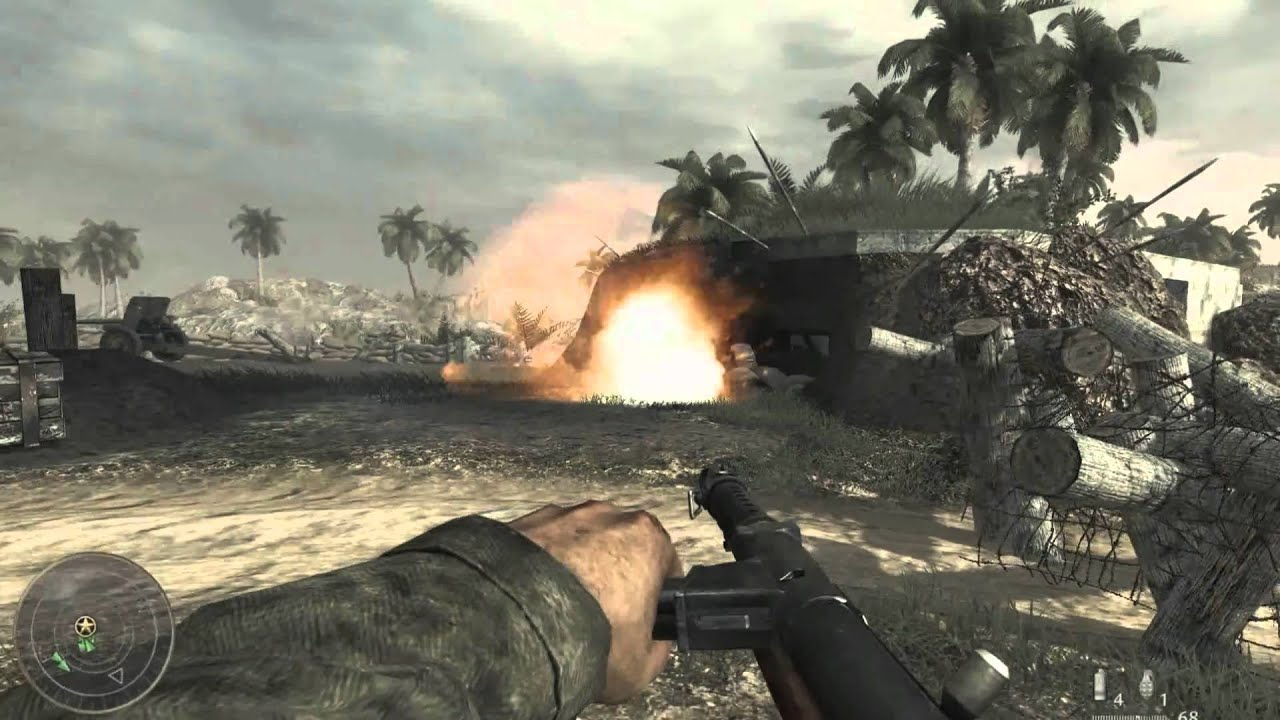 Call of Duty: World at War, is a first-person shooter game produced by Treyarch, and is the first game in the