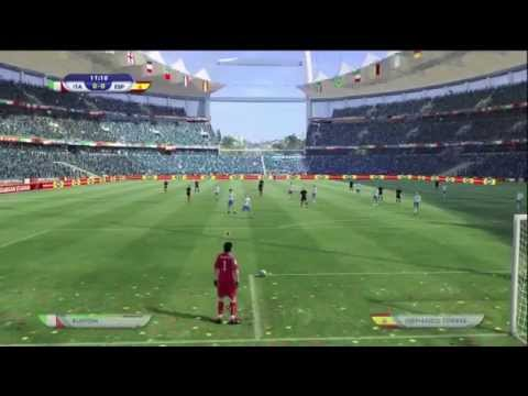 EA FIFA World Cup 2010 Demo Gameplay Footage  Italy v Spain Xbox 360 HD Quality 12
