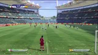 EA FIFA World Cup 2010 Demo Gameplay Footage - Italy v Spain Xbox 360 HD Quality (1/2)