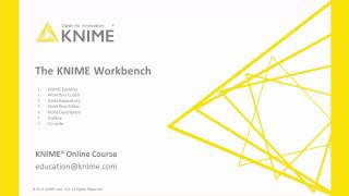 The KNIME Workbench