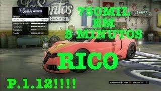 Como ficar rico GTA V ONLINE - RafinhLokinhoGamer - 750mil em 5 minutos - 9MILHÕES EM 1 HORA -  1.12