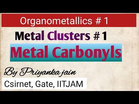 Metal Clusters ; metal carbonyls ,their structures,synergic bonding, pi-acid ligands