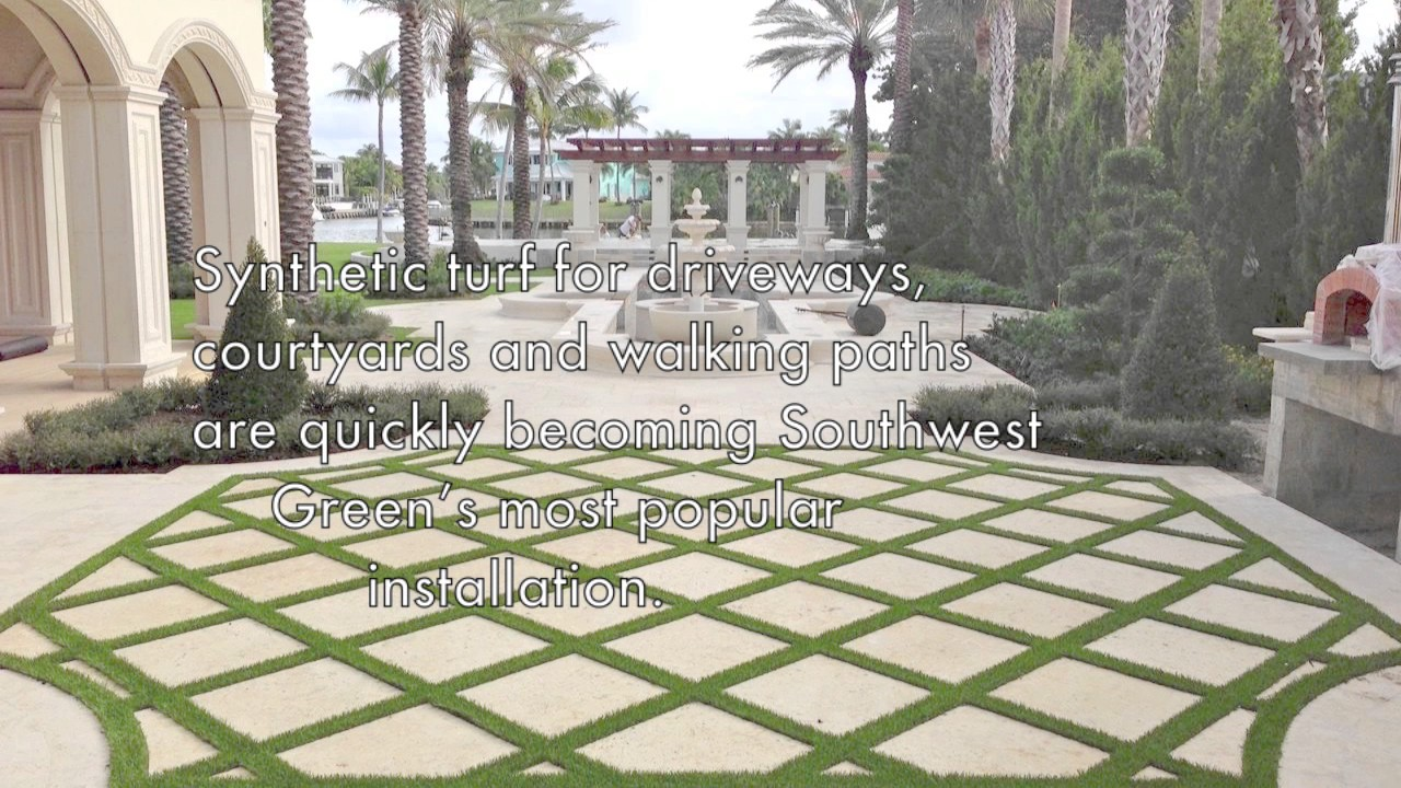 Paver Strips For Driveways And Courtyards | Artificial Grass In Miami