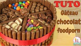 RECETTE GÂTEAU CHOCOLAT FOODPORN - KINDER BUENO M&ampM&#39S SMARTIE&#39S - CHOCOLATE CAKE RECIPE
