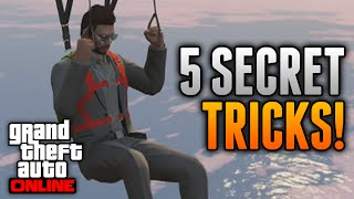 GTA 5 Online Tricks - 5 Secret Tricks Online! Roll Down Car Windows, Glide Forever & More!
