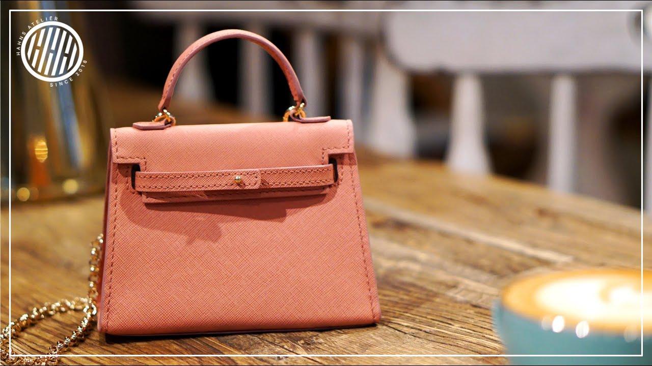 Leather Craft Making Mini Handbag Free Pattern Youtube