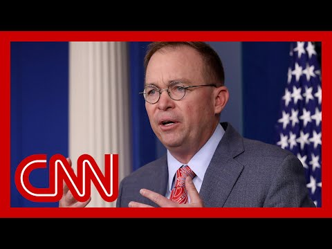 Report: Mick Mulvaney asked about legality for withholding Ukraine aid