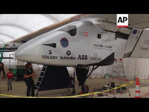 Raw: Solar Plane Successfully Makes It to Calif.