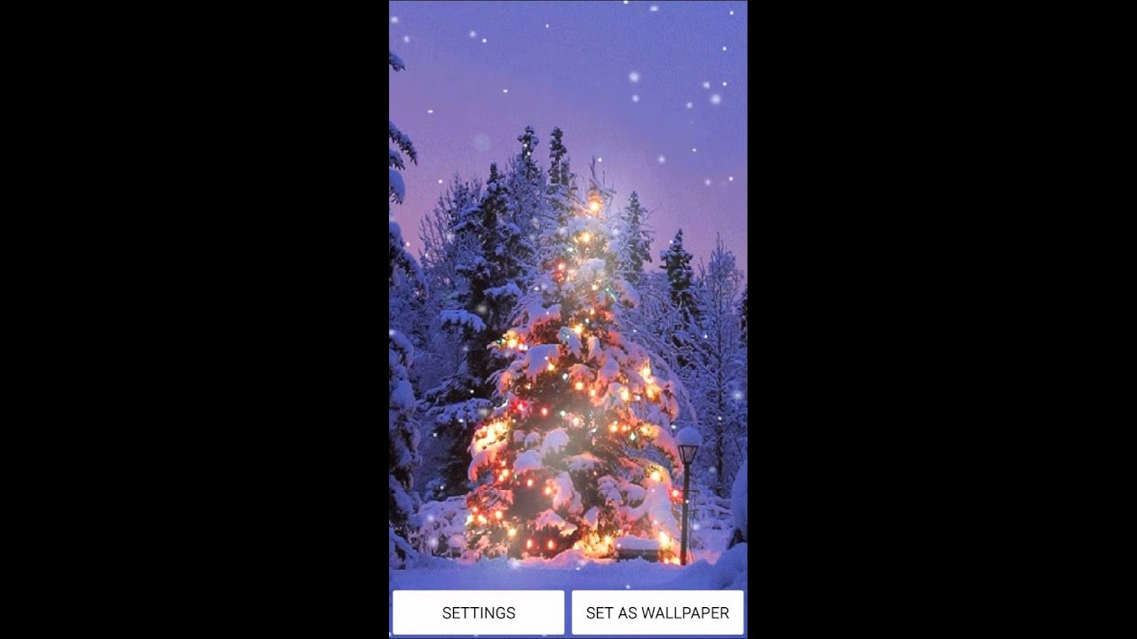 Christmas Snow Live Wallpaper For Android OS