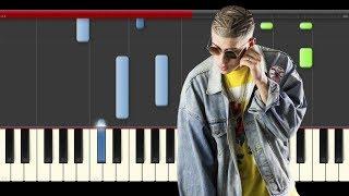 Bad Bunny Soy Peor piano midi tutorial sheet partitura cover app karaoke