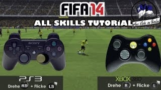 "FIFA 14 - ""All Skill Moves"" Tutorial ᴴᴰ + Controller Animation 