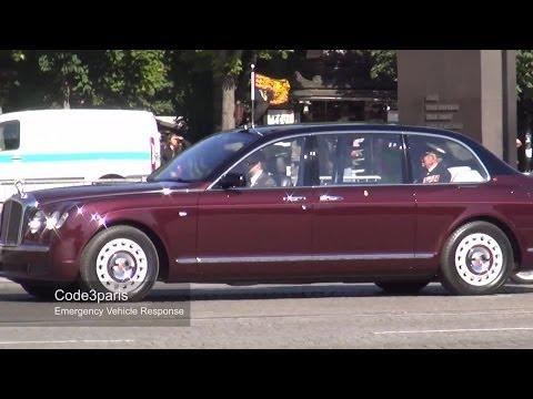 Motorcade Queen of England in Paris