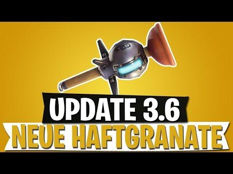 UPDATE 3.6 | NEUE HAFTGRANATE | BILD EINER NEUEN MAP? | FORTNITE BATTLE ROYALE Deutsch