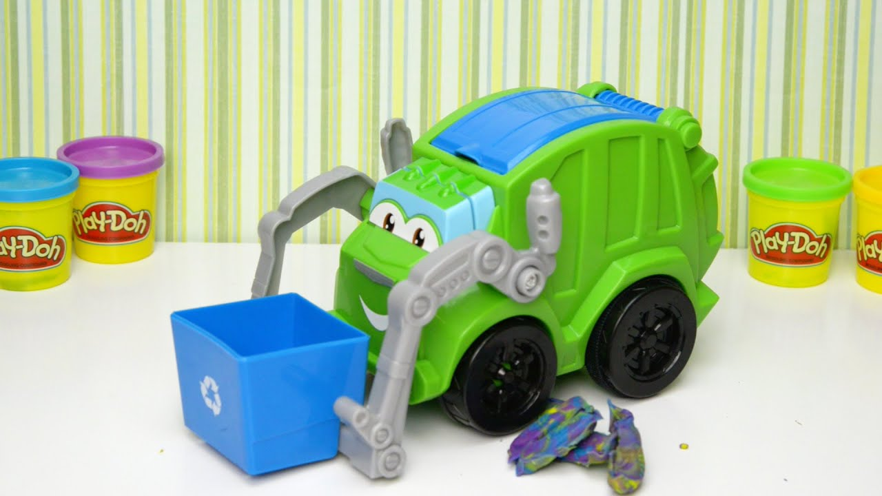 Ellie V Play Doh Trash Tossin Rowdy The Garbage Truck Toy