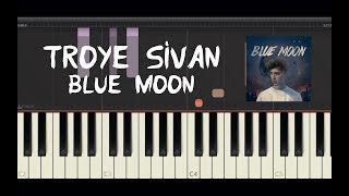 Скачать Troye Sivan Blue Moon Piano Tutorial By Amadeus Synthesia