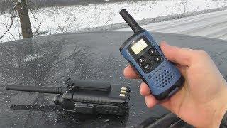 Радіостанція Motorola TLKR-T41 - тест дальності роботи в порівнянні з рацією Kenwood TK-F8