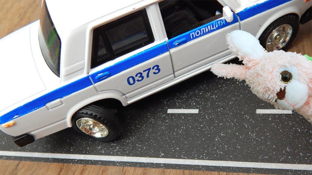 Машинки игрушки Мультик Город Машинок 332 серия: Сеня и колеса Полицейской машины