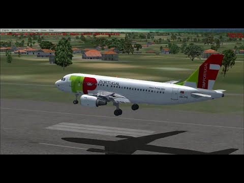 [FSX AZORES] TAP A319 Landing at Lajes airport (Terceira Island)