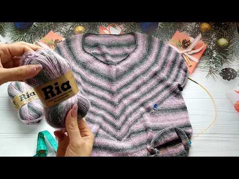 Полосатый пуловер. Часть 3. Обзор процесса вязания.