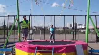 Тарзанка-прыгалка в парке Митино