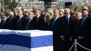 Israel : World Leaders pay homage as Israel buries Former Prime Minister Ariel Sharon (Jan 13, 2014)