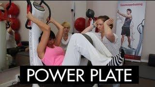 Power Plate Training: Djamila Rowe am Limit