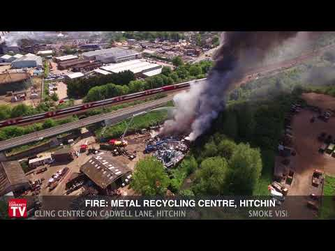 Fire at Metal Recycling Centre in Hitchin