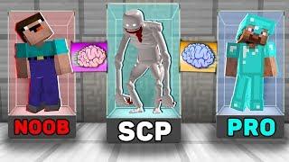 Minecraft NOOB VS PRO VS SCP : SUPER BRAIN EXCHANGE! NOOB BECAME a SCARY SCP 096 in Minecraft!