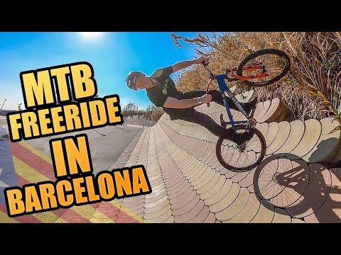 URBAN MTB FREERIDE IN THE STREETS OF BARCELONA