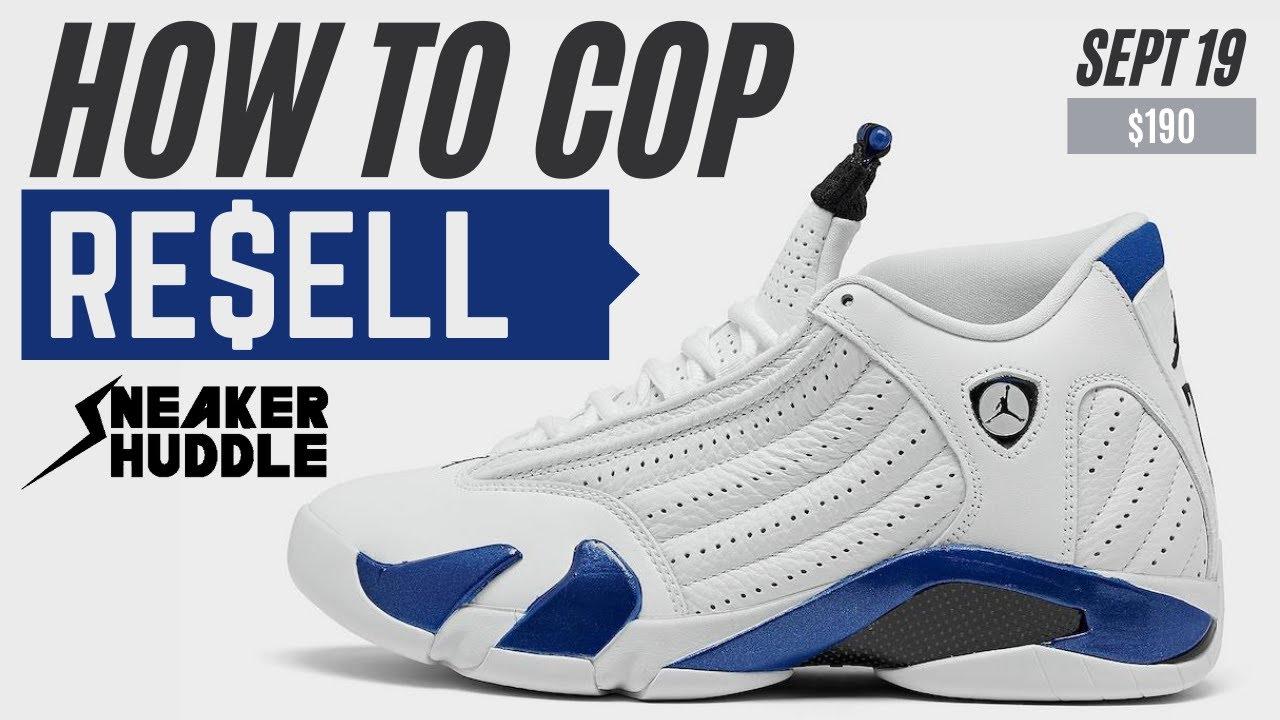 Air Jordan 14 'Hyper Royal' | How To Cop + Resell Prediction