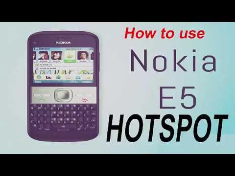 Nokia E5 Hotspot