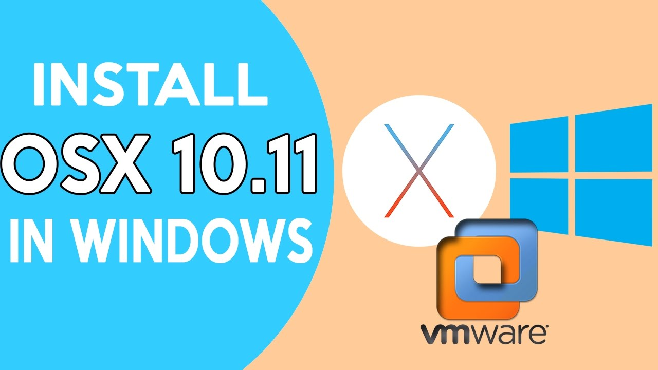 How To Install Mac OS El Capitan on PC/ How to install Mac OS el capitan on  vmware