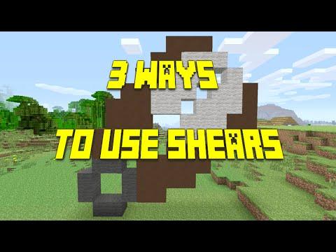 Minecraft ||3 ways to use shears||