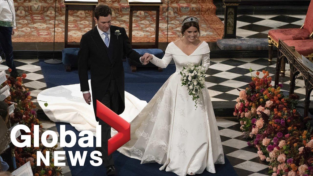 Royal Wedding Youtube.Princess Eugenie Jack Brooksbank Depart After Royal Wedding Youtube