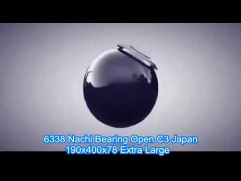 6338 Nachi Bearing Open C3 Japan 190x400x78 Extra Large