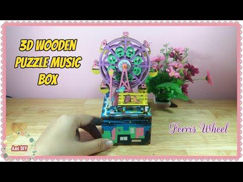 Robotime 3D Wooden Puzzle Music Box-Ferris Wheel / Đồ chơi hộp nhạc đu quay xinh xắn / Ami DIY
