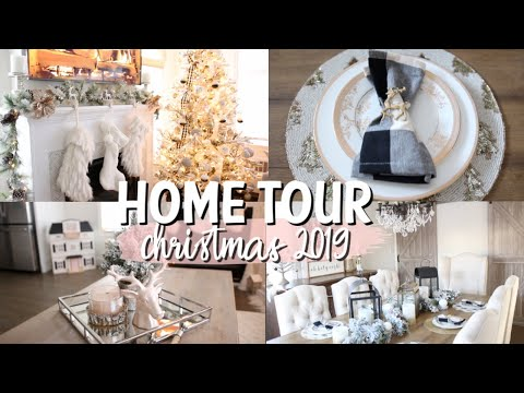 CHRISTMAS HOME TOUR 2019 | RUSTIC GLAM | HOLIDAY DECOR