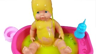 Baby Doll Bathtime Clay Slime Surprise Teletubbies Minnie Mickey Mouse Peppa Pig Shopkins Dora
