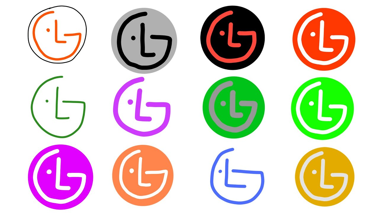 10 LG Logo Drawings Doodles (1995 intro ID ident)