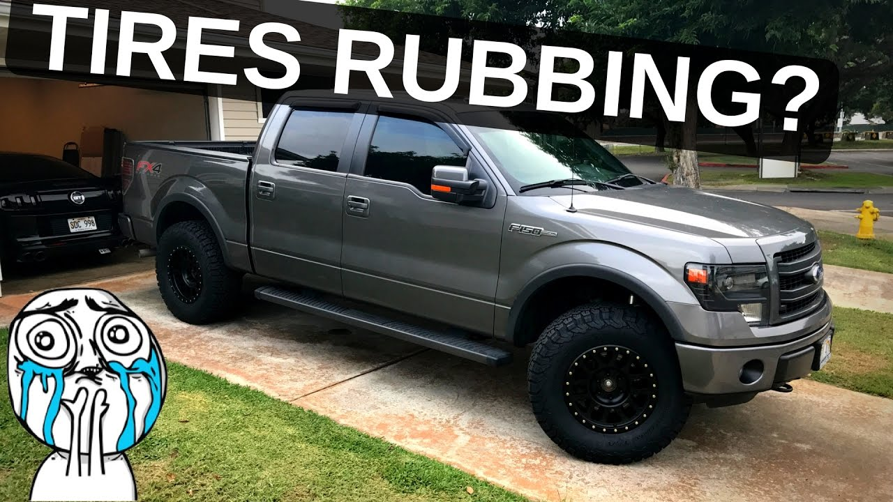 hight resolution of tire rub how to fit 35 tires on your f 150