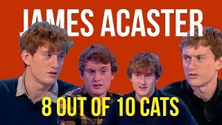 James Acaster on 8 out of 10 cats (every appearance)