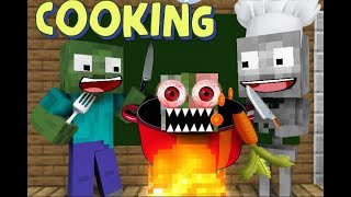 Monster School : COOKING CHALLENGE - MINECRAFT ANIMATION