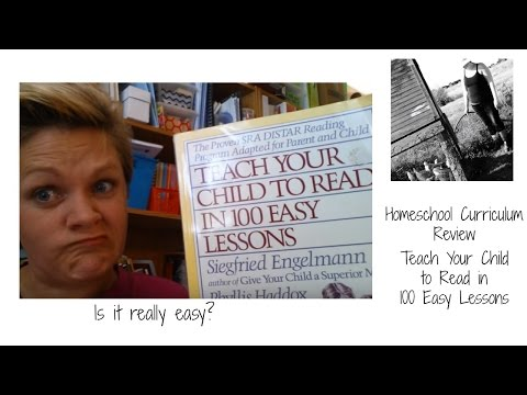 Homeschool Review - Teach your child to read in 100 Easy Lessons