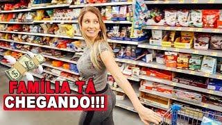 COMPRAS NO MERCADO, PRA RECEBER A FAMÍLIA PELA PRIMEIRA VEZ!!!