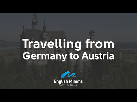 Travelling from Germany to Austria, to the valley KLEINWALSERTAL