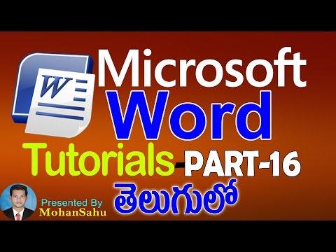 Ms Word Tutorials in Telugu Part - 16    Envelops & Labels    LEARN COMPUTER TELUGU VIDEOS