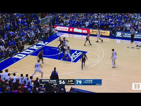 Duke's 18-0 Run vs. Notre Dame (1/29/18)