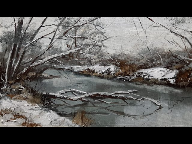 Первый снег-The first snow.  Vugar Mamedov